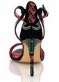 Poletto İnce Topuklu Sandalet Renkli